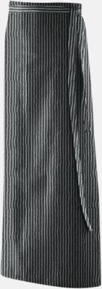 Svart/Vit (100 x 130 cm) Förkläden i 5 varianter med reklamtryck