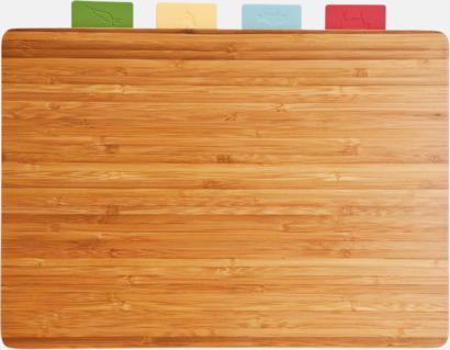 Mörk bambu Eko set med 5 skärbrädor med reklamlogo