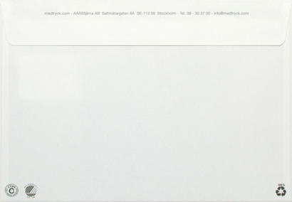 Vit C5 Kuvert med tryck C5H2