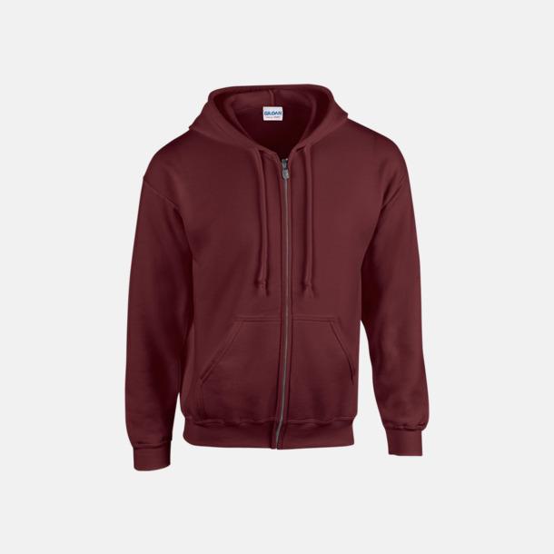 Maroon Heavy Blend-tröja i herrmodell med reklamtryck