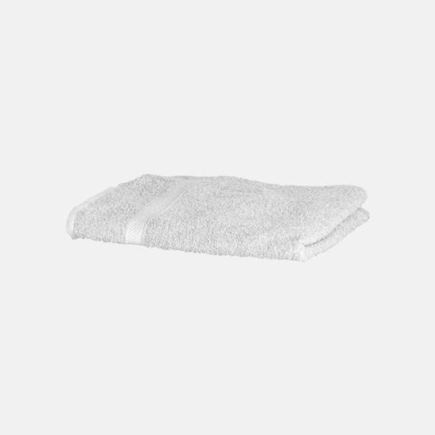 Vit Exklusiva handdukar med egen brodyr