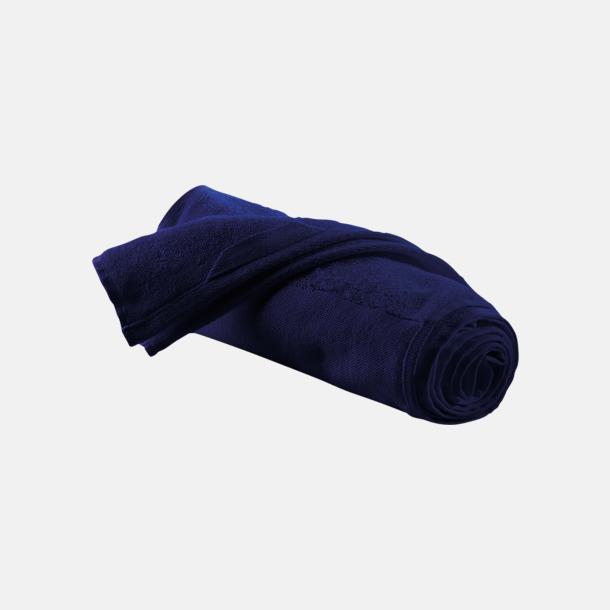 Marinblå Sporthanddukar i bomull med reklambrodyr
