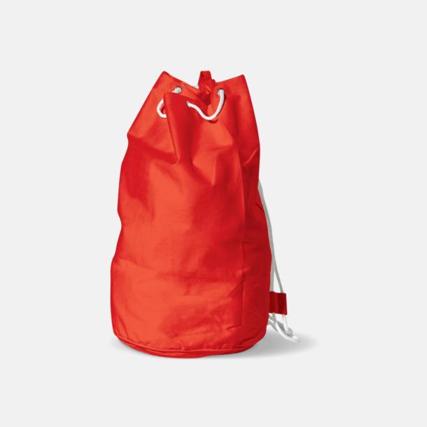 Röd Sjömansväska i bomull med eget tryck