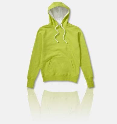Lime / Vit 2-färgade huvtröjor för herr, dam & barn med reklamtryck