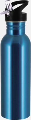 Cyan 0,75 liters sportflaskor i rostfritt stål med reklamtryck