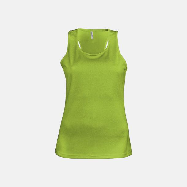 Lime Linnen av funktionsmaterial med reklamtryck