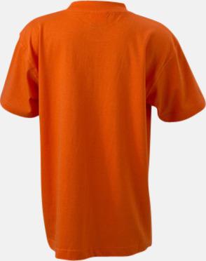 Mörkorange (rygg) Barn t-shirtar av kvalitetsbomull med eget tryck