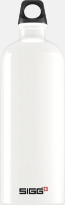 Vit (1,0 liter) Äkta SIGG-flaskor med eget tryck