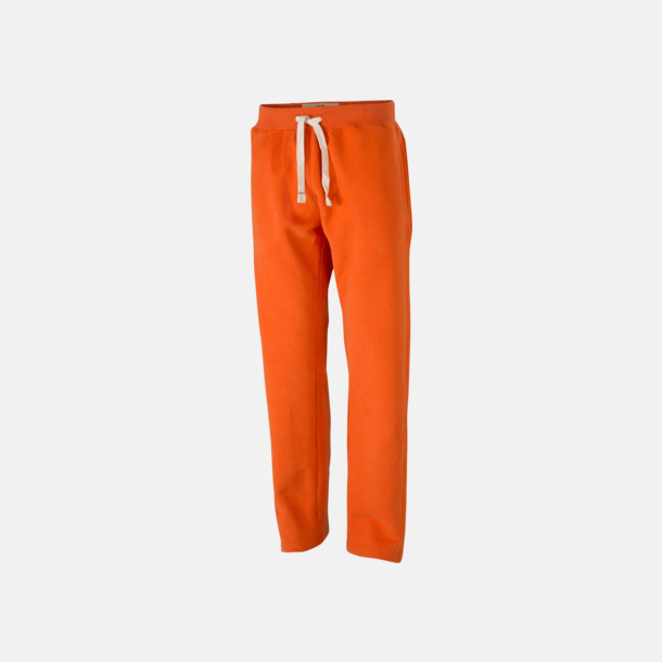 Dark Orange (herr) Färgglada mjukisbyxor i herr- och dammodell med reklamtryck