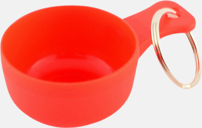 Röd Små kåsor för nyckelringen med tryck