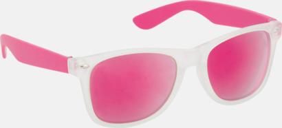 Rosa Solglasögon med färgade glas - med tryck
