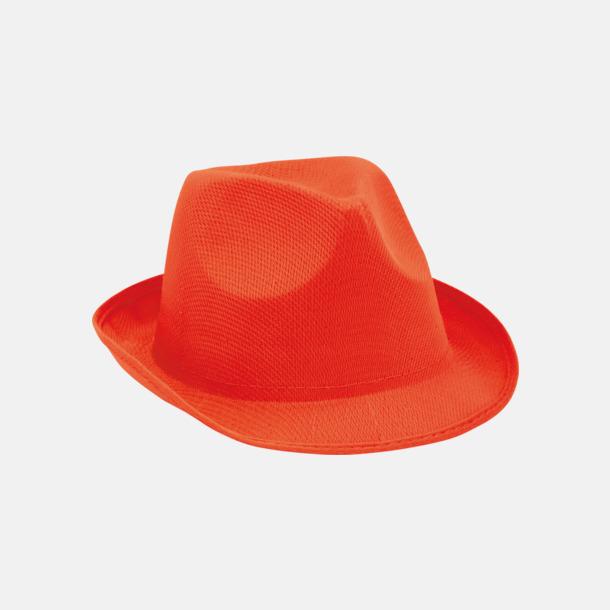 Röd Stilrena stetsonhattar med reklamtryck