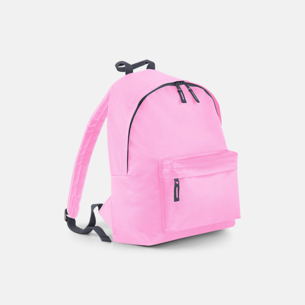 Classic Pink/Graphite Grey Klassisk ryggsäck i 2 storlekar med eget tryck