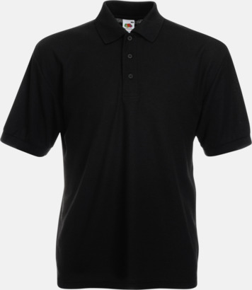 Svart Pikétröjor med reklamtryck eller brodyr