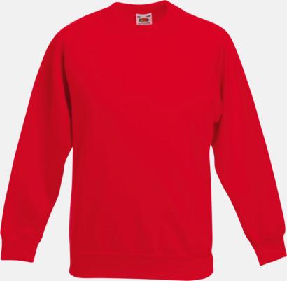 Röd Tjocktröjor för barn med eget tryck