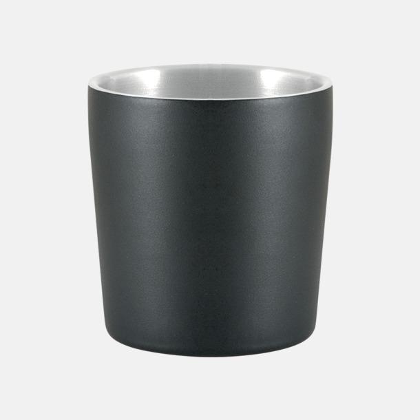 Mattsvart (0,24 liter) Termosmuggar i två storlekar med reklamtryck
