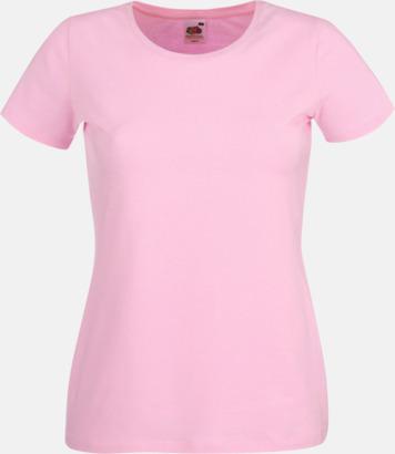 Ljusrosa Dam t-shirt med reklamtryck