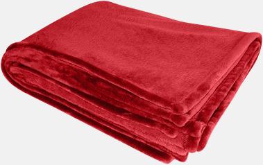 Röd Stora filtar med reklambrodyr