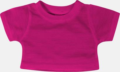 Fuchsia (enfärgad) Enfärgade t-shirts eller med färgad kant - med reklamtryck