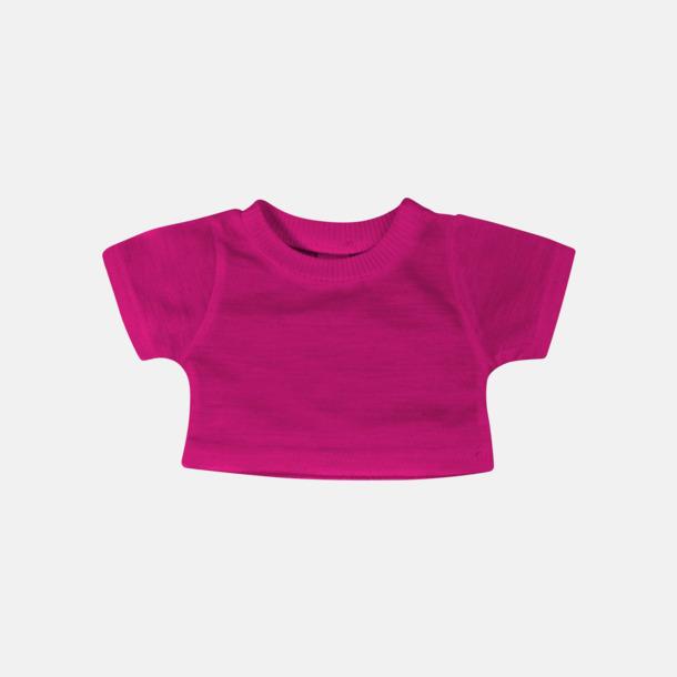 Fuchsia Enfärgade t-shirts för gosedjur - med reklamtryck