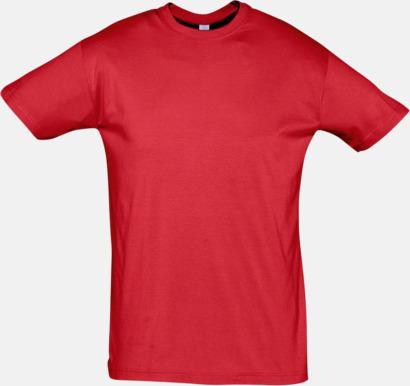 Röd Billiga herr t-shirts i rmånga färger med reklamtryck