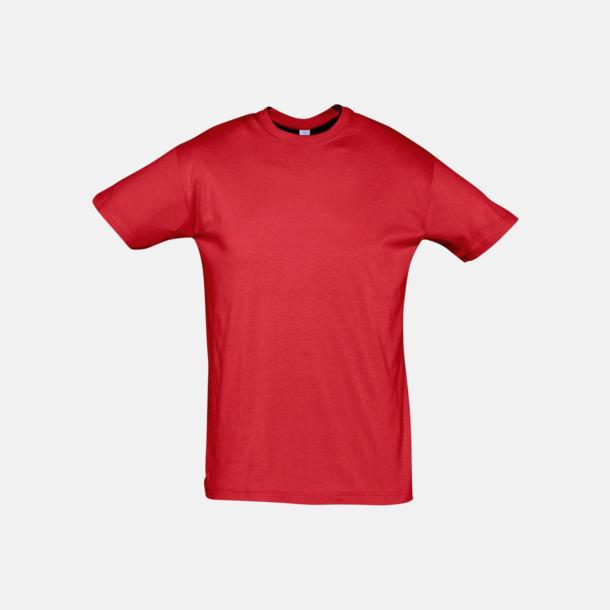 Röd Billiga unisex t-shirts i många färger med reklamtryck