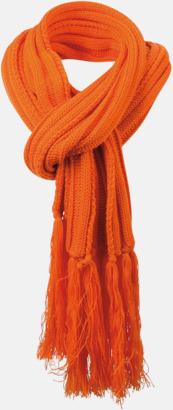 Dark Orange Halsdukar med egen logga