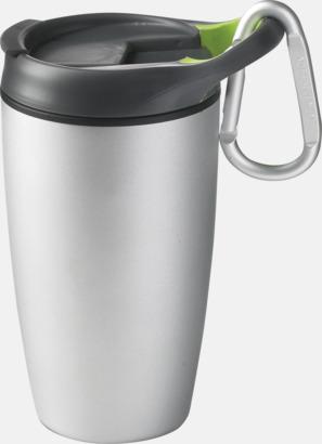 Silver Tåliga muggar med karbinhake - med tryck