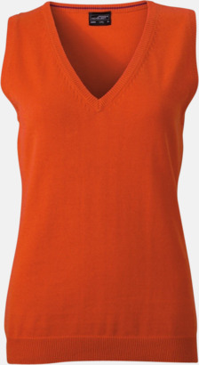 Dark Orange Pullovers med eget tryck