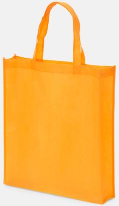 Orange Non wovenkassar med reklamtryck