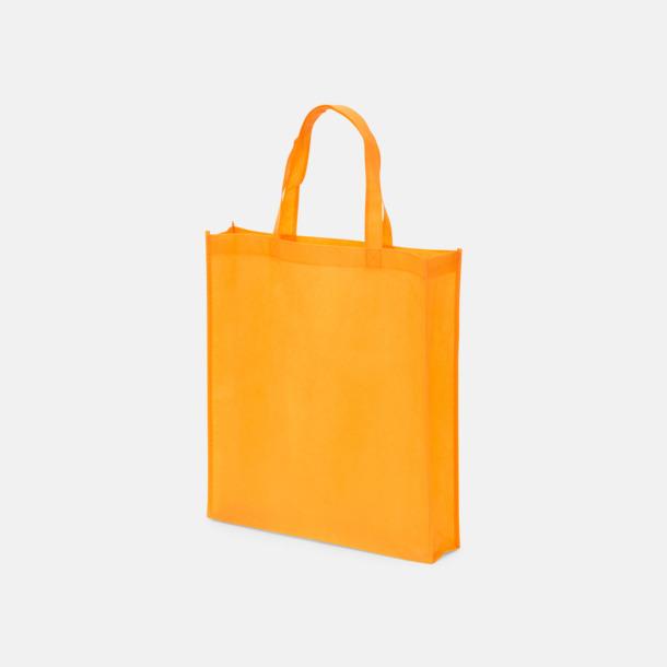 Orange (PMS 144) Non wovenkassar med reklamtryck