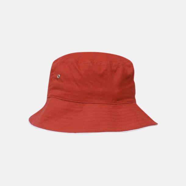 Röd / Vit Bomullshattar med reklambrodyr