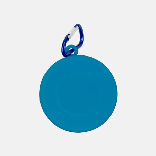 Ljusblå Vikbara plastmuggar med eget tryck
