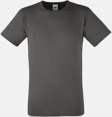 Light Graphite Tajtare reklamt-shirt med figurnära passform