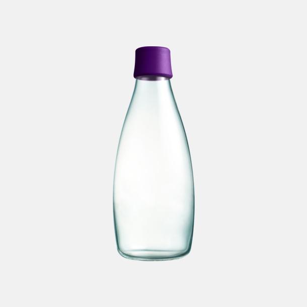 Purple Större glasflaskor med reklamtryck