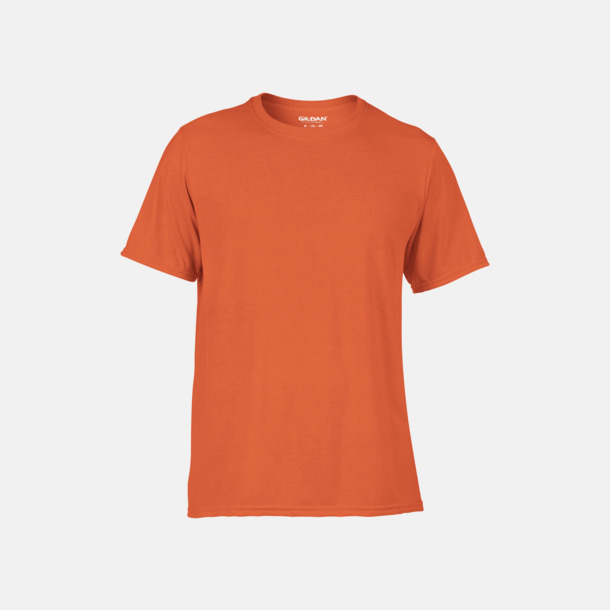 Orange Funktionströjor med eget tryck