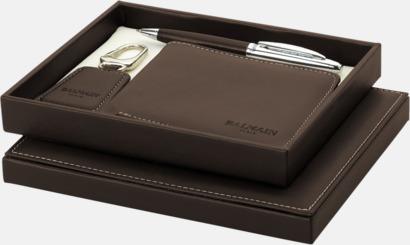 Brun Exklusivt presentset från Balmain med reklamtryck