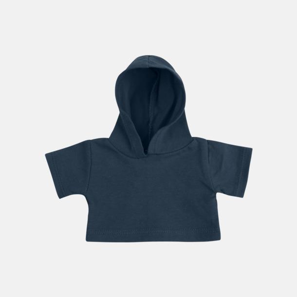 Marinblå (bomull) Små huvtröjor för gosedjur - med reklamtryck