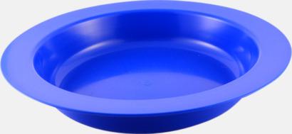 Djup (blå) Djupa och flata tallrikar för utflykten