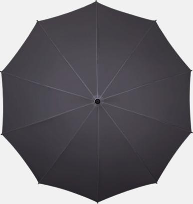Grå Stora golfparaplyer med eget tryck