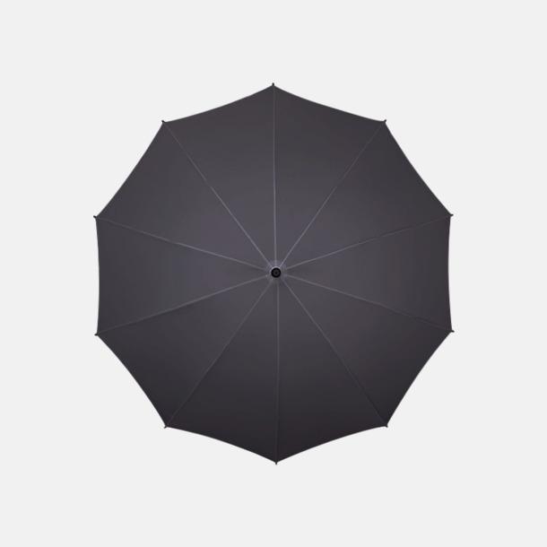 Mörkgrå (PMS 445C)  Stora golfparaplyer med eget reklamtryck