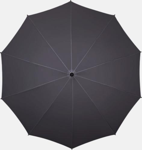 Mörkgrå (PMS 445C)  Stora golfparaplyer med eget tryck