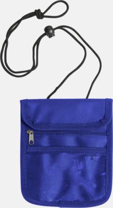 Blå Reseplånbok med eget tryck