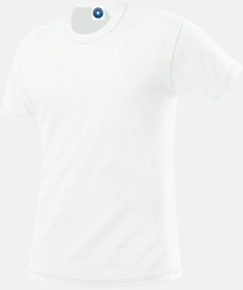 Vit Herr t-shirts i ekologisk bomull