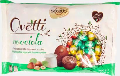 Ovetti Nocciola Italienska påskpraliner med 3 fyllningar