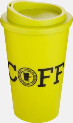 Limegrön Kaffemuggar för utemiljöer med lock