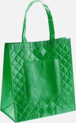 Grön Väska i laminerad non-woven med reklamtryck