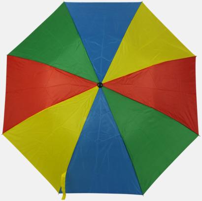 Grön/Blå/Gul/röd (2) Kompaktparaply i många färgalternativ