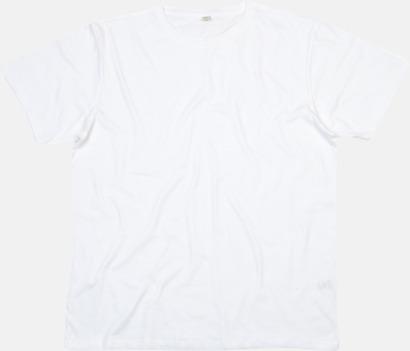 Vit Ekologiska t-shirts i herrmodell med reklamtryck