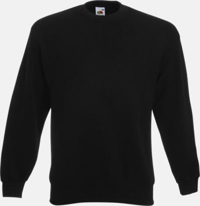 Svart Klassisk sweatshirt med reklamtryck